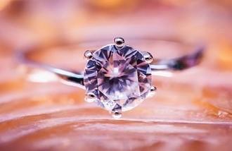 Кольцо с алмзом