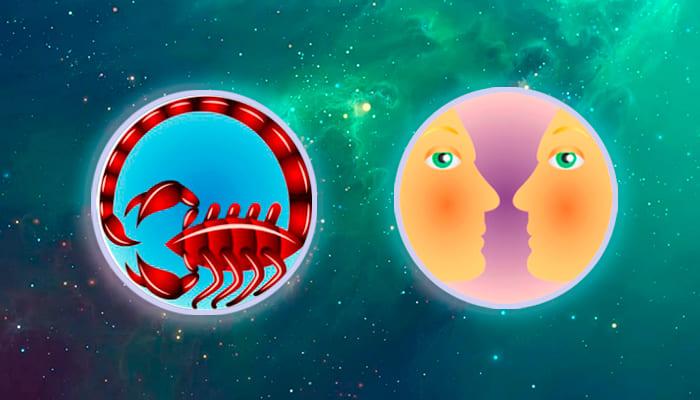 Скорпион-Близнецы совместимость